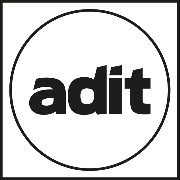 ADIT Black and White Logo