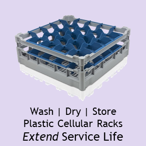 Schott ZWIESEL Wash Dry Cellular Racks Extend Service Life