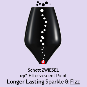 Schott ZWIESEL ep Effervescent Point For Longer Lasting Sparkle & Fizz