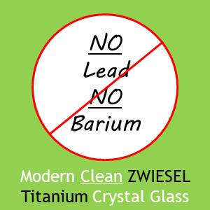 Zwiesel Glas Modern Clean Zwiesel Titanium Crystal Glass No Lead No Barium