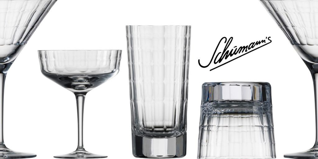 Zwiesel Glas Charles Schumann HOMMAGE CARAT Mouthblown Cut Glass Bar Glass Range Banner