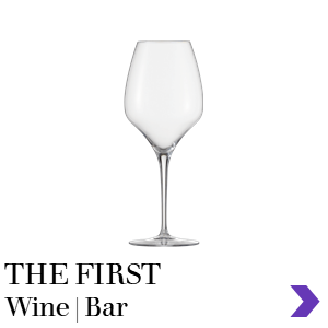 Zwiesel Glas THE FIRST Mouthblown Wine & Bar Glass Range Pointer