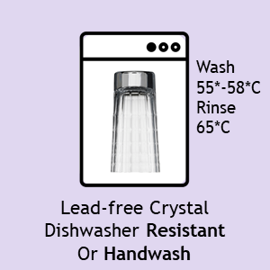 ADIT Curated Lead Free Crystal Dishwasher Resistant 55 to 65 C