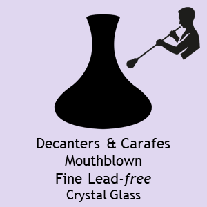 ADIT Curated Mouthblown Decanters Carafes Lead Free Crystal 5
