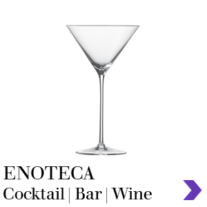Zwiesel Glas Mouthblown ENOTECA Cocktail Bar Range Pointer