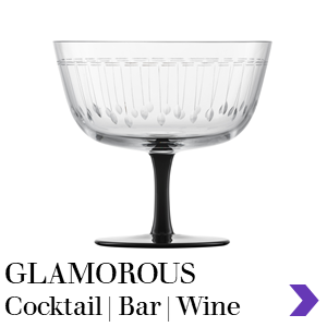 Zwiesel Glas Mouthblown GLAMOROUS Cocktail Bar Range Pointer