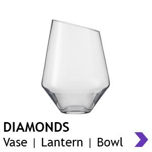 Zwiesel Glas Handmade DIAMONDS Vases & Lanterns